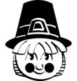 Pilgrim cartoon vector image vector image