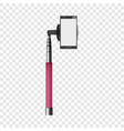 pink monopod mockup realistic style vector image vector image