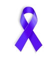 Purple ribbon as symbol of cancer awareness drug vector image vector image