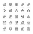 real estate line icons set 6 vector image vector image