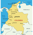 Republic of Colombia - map vector image vector image