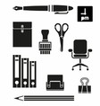 Retina Office Tools Icon Set vector image vector image