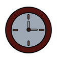 round clock time hour decoration element vector image vector image