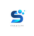 s letter logo design with 3d and ribbon effect