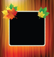 school board with maple leaves in the corners vector image vector image