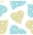 Seamless pattern with decorative hearts vector image vector image
