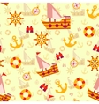 seamless pattern with sea travel elements vector image vector image