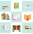 Set of books in flat design vector image