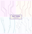 set of four abstract seamless patterns with lines vector image