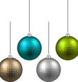 Set of textured realistic christmas balls vector image vector image