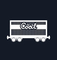 silhouette railway freight car for coal vector image