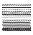 simple zigzag underlines a set of geometric vector image