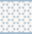 snowflakes seamless pattern delicate blue and vector image vector image