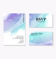 soft blue wedding watercolor shapes save date vector image vector image