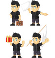 Spiky Rocker Boy Customizable Mascot 5 vector image vector image