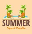 summer beach bar travel juice cocktails beer vector image