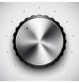 Technology volume button vector image vector image
