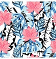 tropical lotus pattern vector image vector image