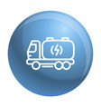 truck energy icon outline style vector image