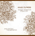 vintage background magic flowers vector image vector image