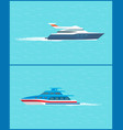 water transport cruise liner and sea trip vector image vector image
