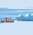winter landscape cartoon minimal style horizon vector image vector image