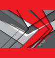 abstract red arrow on gray design vector image