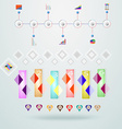 Abstract digital Infographic vector image vector image