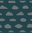 abstract seamless pattern background clouds vector image vector image