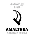 astrology asteroid amalthea vector image vector image