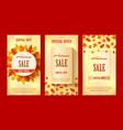 autumn sale banners season leaf card design vector image vector image
