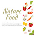banner with vegetables in flat style vector image vector image