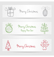 Banners with christmas doodles vector image vector image
