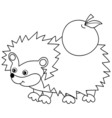 Black And White Hedgehog vector image