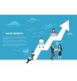 Business growth concept of business vector image
