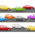 Cars on Road Transport Background vector image vector image