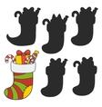 Christmas stocking stuffed vector image