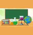 classroom scene with scicen equipments vector image vector image