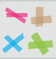 collection of adhesive tape pieces isolated vector image