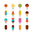 collection tasty ice cream set ice cream vector image vector image