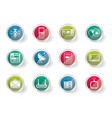 communication and business icons vector image