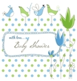 Cute baby shower vector image vector image