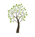 decorative simple tree green nature logo concept vector image