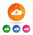 Download from cloud icon Upload button vector image vector image
