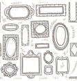 frames seamless pattern vector image