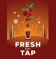 fresh from tap vector image