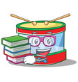 geek toy drum character cartoon vector image vector image