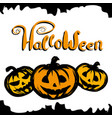 halloween background with pumpkin vector image vector image