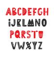 hand drawn folk scandinavian font vector image vector image
