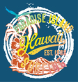 Hawaii the paradise Islands vector image
